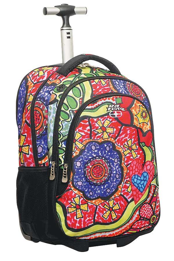 Σχολική τσάντα τρόλεϊ NO FEAR λουλούδια 34723074