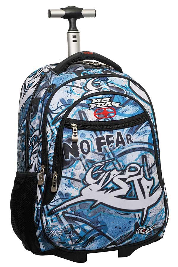 Σχολική τσάντα τρόλεϊ NO FEAR μπλε graffiti 34727074