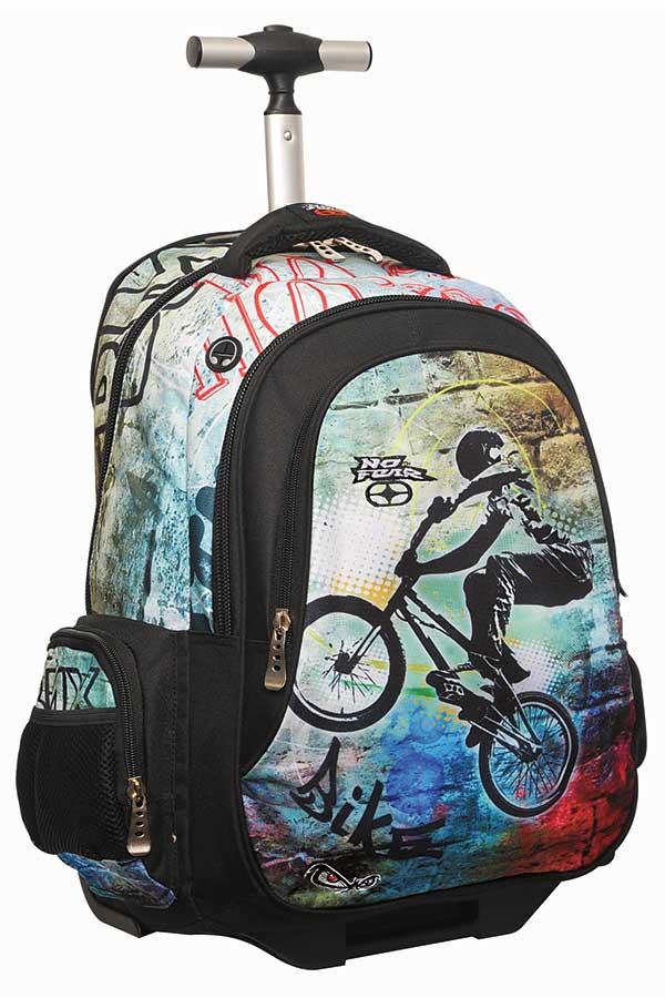 Σχολική τσάντα τρόλεϊ NO FEAR ποδήλατο 34724074