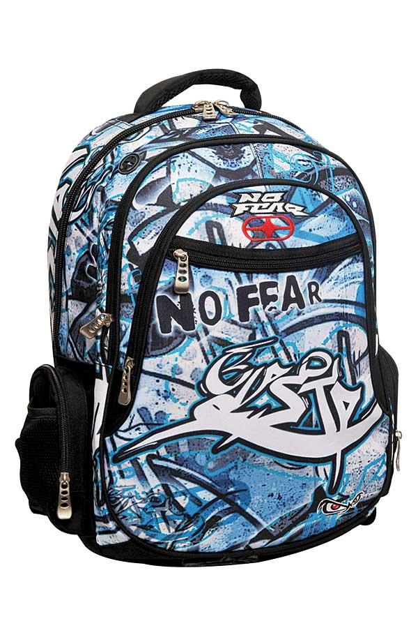 Σακίδιο πολυθεσιακό NO FEAR μπλε graffiti 34727031