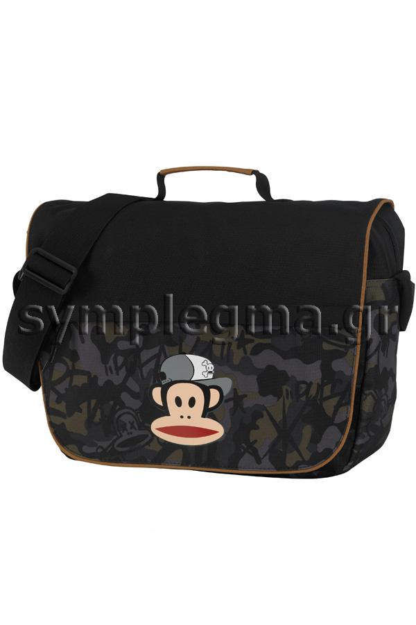Τσάντα ταχυδρόμου Paul Frank μαύρη 00733