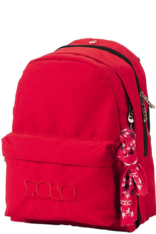Σακίδιο POLO BACKPACK DOUBLE WITH SCARF κόκκινο 90123503