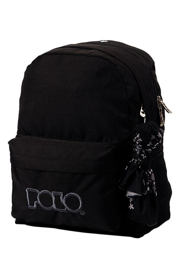 Σακίδιο POLO BACKPACK DOUBLE WITH SCARF μαύρο 90123502