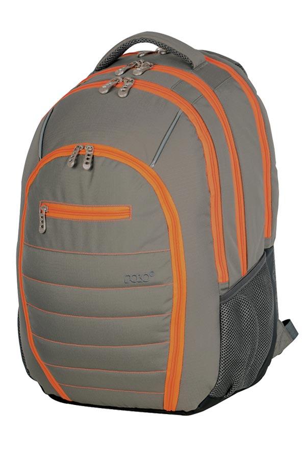 Σακίδιο POLO AXION γκρι - πορτοκαλί 90101714