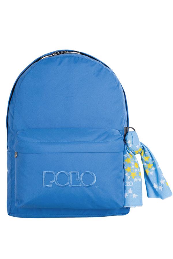 Σακίδιο POLO BACKPACK DOUBLE WITH SCARF γαλάζιο 90123506