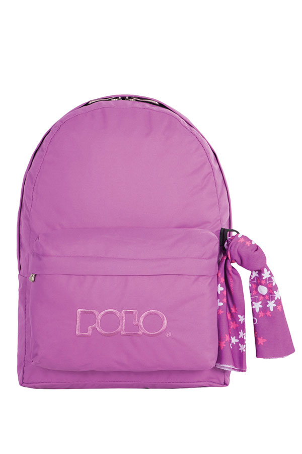 Σακίδιο POLO BACKPACK DOUBLE WITH SCARF λιλά 90123513-P
