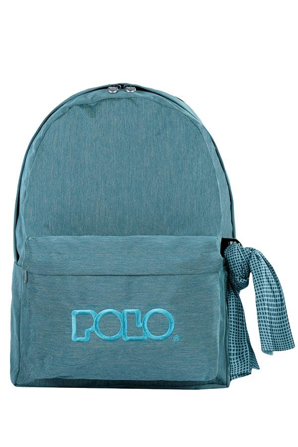 Σακίδιο POLO BACKPACK DOUBLE WITH SCARF jean γαλάζιο 90123591