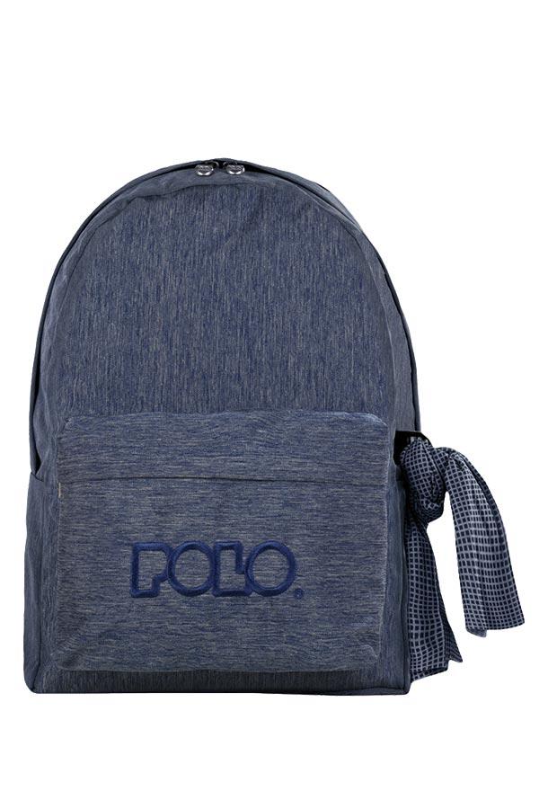 Σακίδιο POLO BACKPACK DOUBLE WITH SCARF jean μπλε 90123592