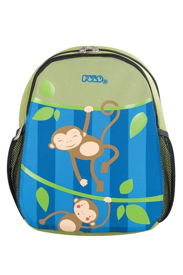 Σακίδιο νηπιαγωγείου POLO BACKPACK ANIMAL JUNIOR μαϊμουδάκια 90101461