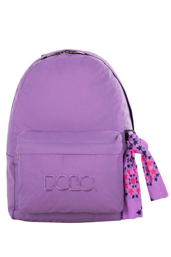 Σακίδιο POLO BACKPACK WITH SCARF λιλά 90113513