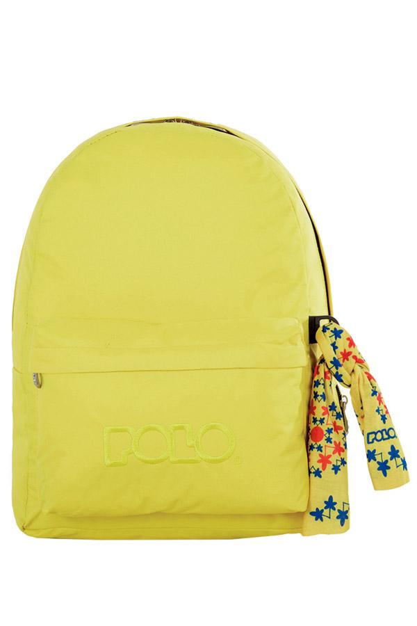 Σακίδιο POLO BACKPACK WITH SCARF κίτρινο φθορίζον 90113504