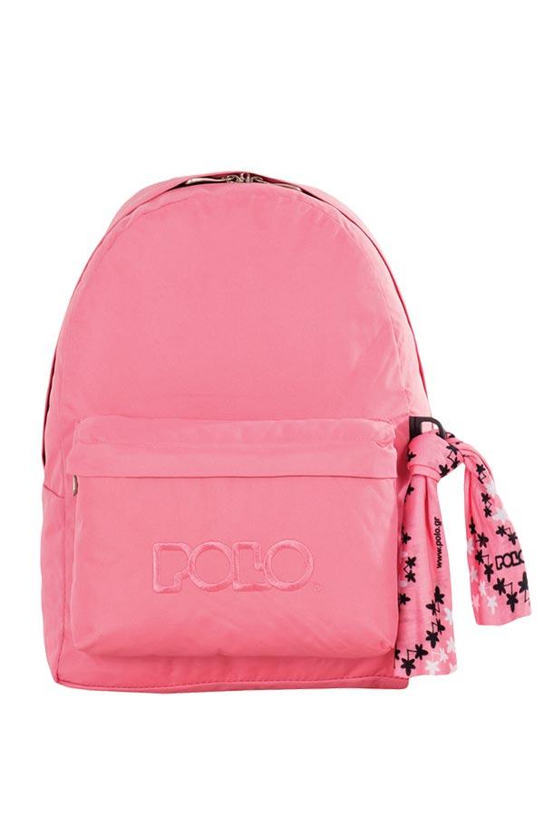 Σακίδιο POLO BACKPACK WITH SCARF ροζ 90113548