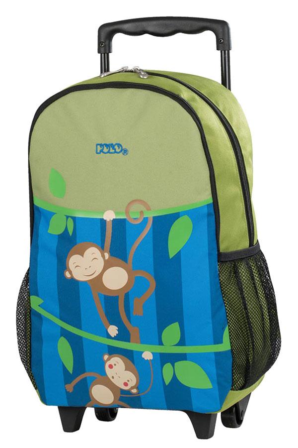Σακίδιο νηπιαγωγείου τρόλεϊ POLO TROLLEY ANIMAL JUNIOR μαϊμουδάκια 90101161