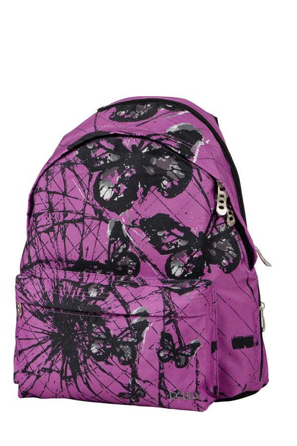 Σακίδιο POLO BACKPACK DOUBLE SILENCE μωβ μαύρες πεταλούδες 90120364