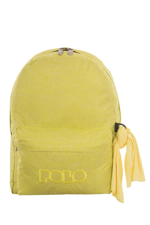 Σακίδιο POLO BACKPACK DOUBLE WITH SCARF New line jean κίτρινο φθορίζον 90123597
