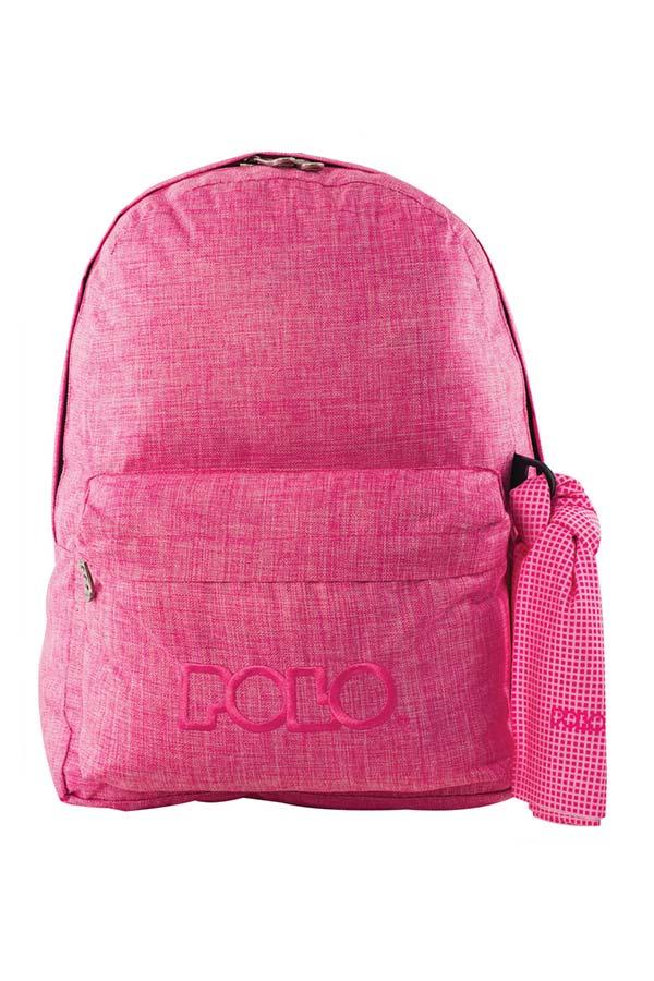 Σακίδιο POLO BACKPACK DOUBLE WITH SCARF New line jean ροζ 90123598