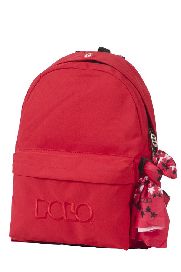 Σακίδιο POLO BACKPACK WITH SCARF κόκκινο 90113503
