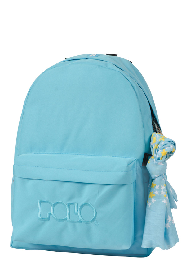 Σακίδιο POLO BACKPACK WITH SCARF σιέλ 90113517 old