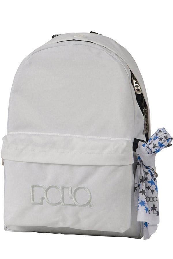 Σακίδιο POLO BACKPACK WITH SCARF λευκό 90113541