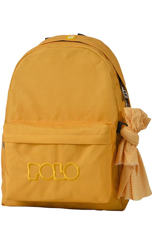 Σακίδιο POLO BACKPACK WITH SCARF πορτοκαλί καρό 90113581