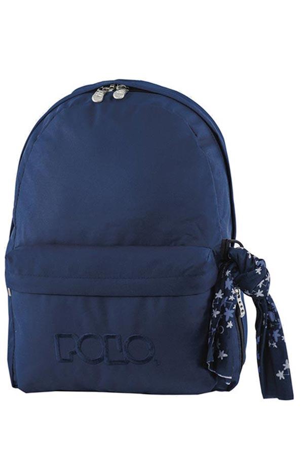 Σακίδιο POLO BACKPACK WITH SCARF σκούρο μπλε 90113505