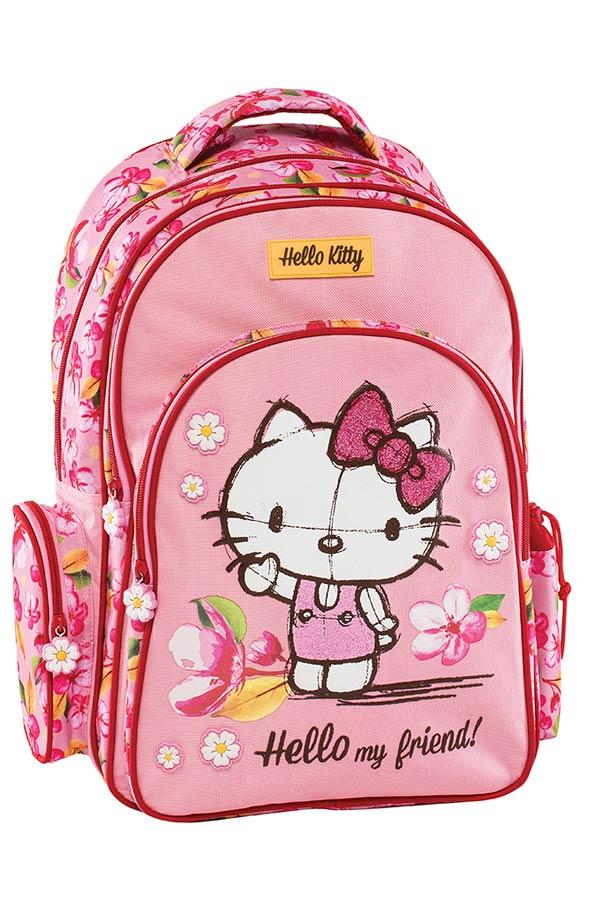 Σακίδιο πλάτης πολυθεσιακό Hello Kitty ροζ Graffiti 178211 7ba0793db5c