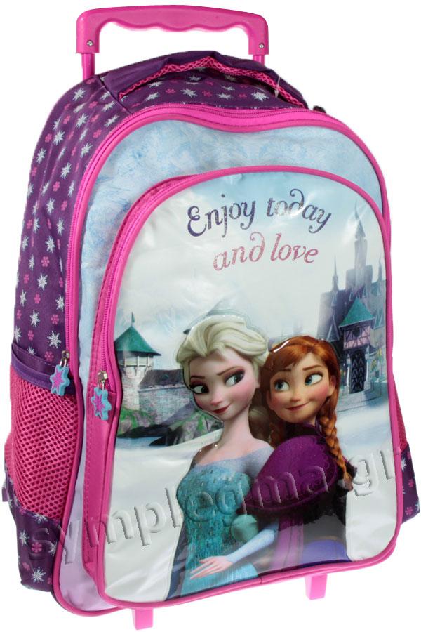 3ef3e60121 Σχολική τσάντα τρόλεϊ Frozen Enjoy today and love 0561022