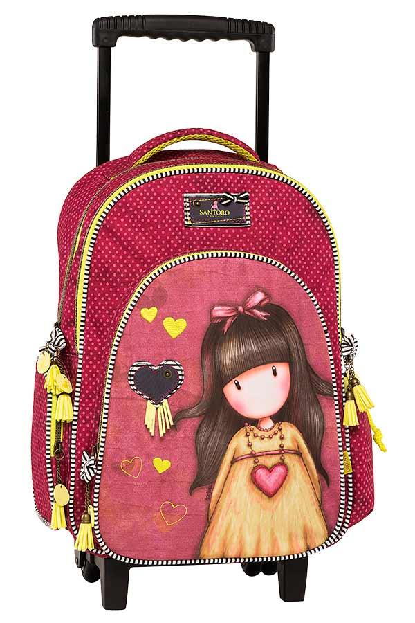 Σχολική τσάντα τρόλεϊ Santoro gorjuss - Heartfelt Graffiti 177251