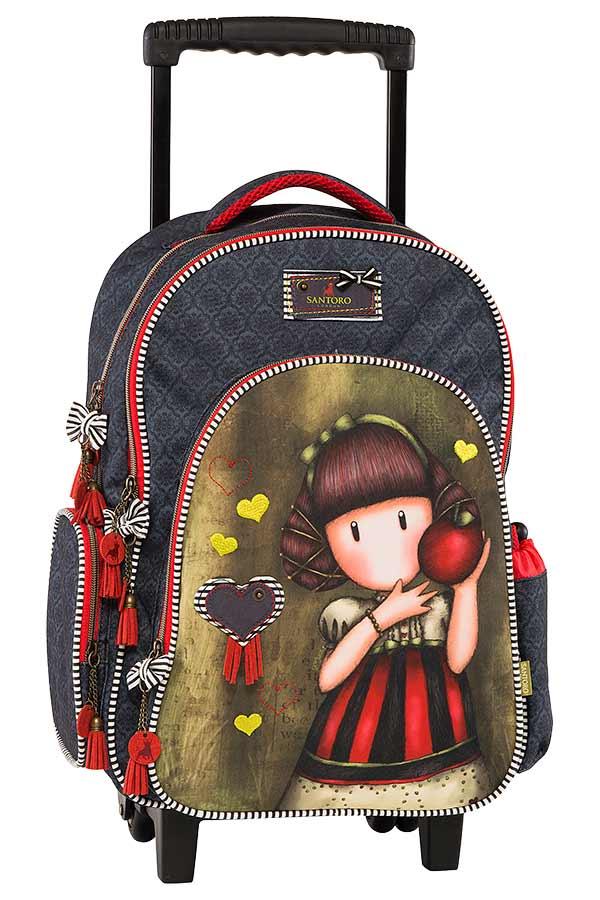 Σχολική τσάντα τρόλεϊ Santoro gorjuss - Dear apple Graffiti 177252