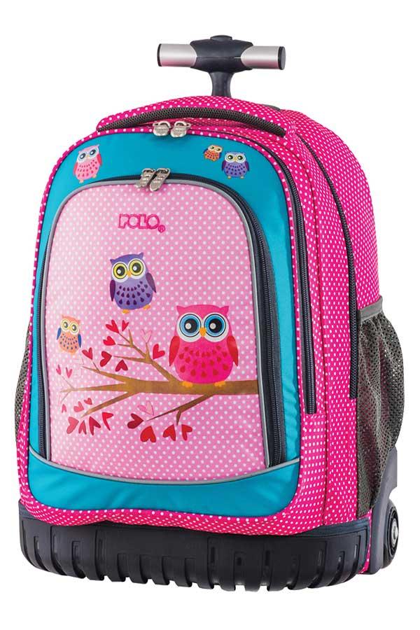 342f3664121 Σχολική τσάντα τρόλεϊ POLO BACKPACK ANATOLIA κουκουβάγια 90120616 ...