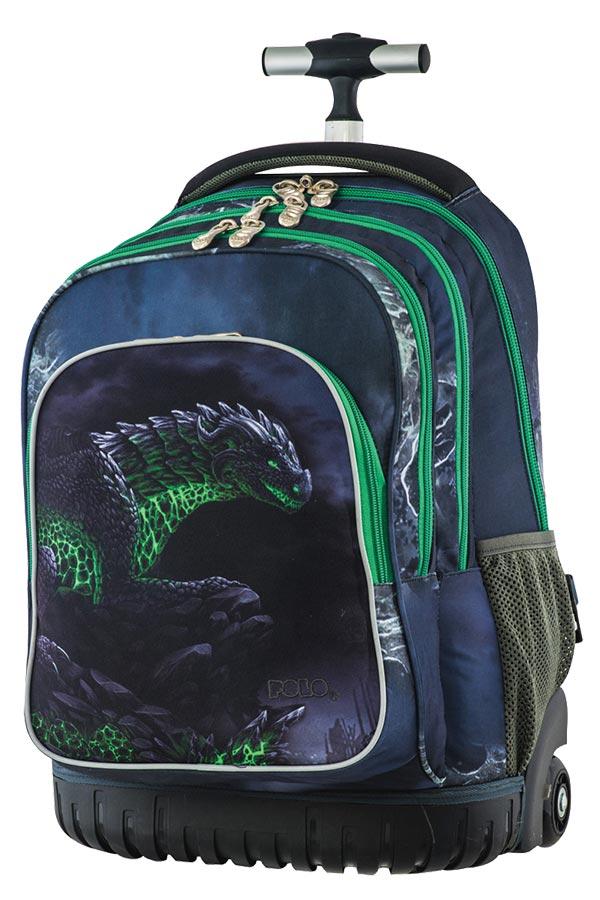 bc439c8294 Σχολική τσάντα τρόλεϊ POLO BACKPACK THEMELIO δεινόσαυρος 90120557 ...