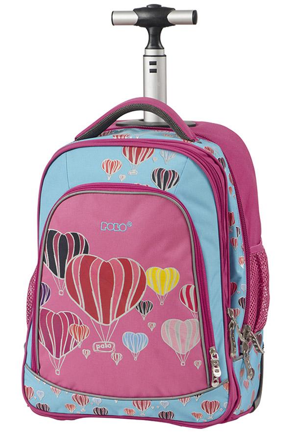 156b888bb1 Σχολική τσάντα τρόλεϊ POLO BACKPACK TROLLEY TEMPO ροζ αερόστατα 90119416