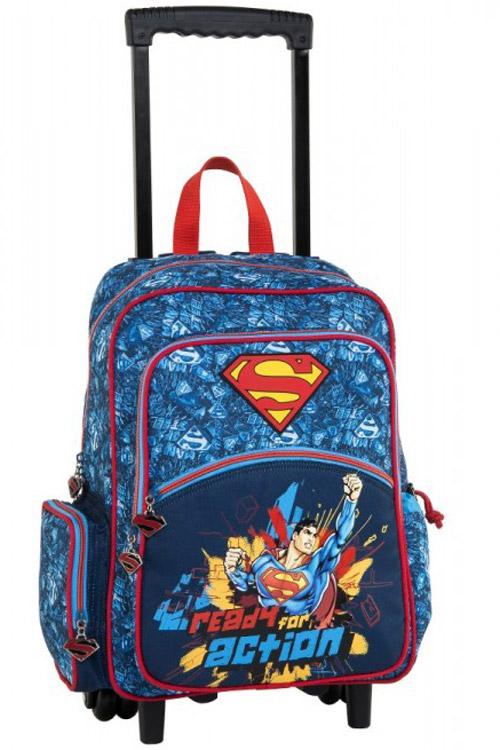5e09914c3f4 Σxολική τσάντα τρόλεϊ Superman Ready for action 15621 ...