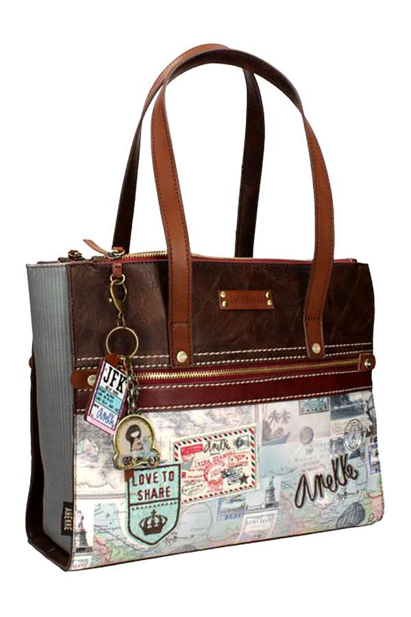 Τσάντα ώμου μπεζ Anekke Traveller 23713.7