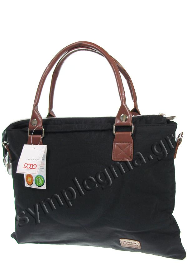 Τσάντα ώμου - χαρτοφύλακας POLO MIRTA 8Lt μαύρο 90711402