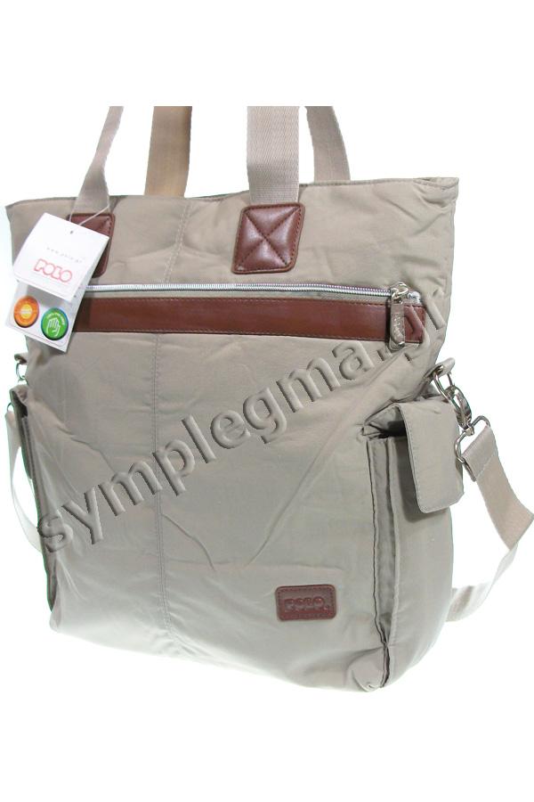 Τσάντα ώμου - χαρτοφύλακας POLO MIRTA 15Lt μπεζ 90711537