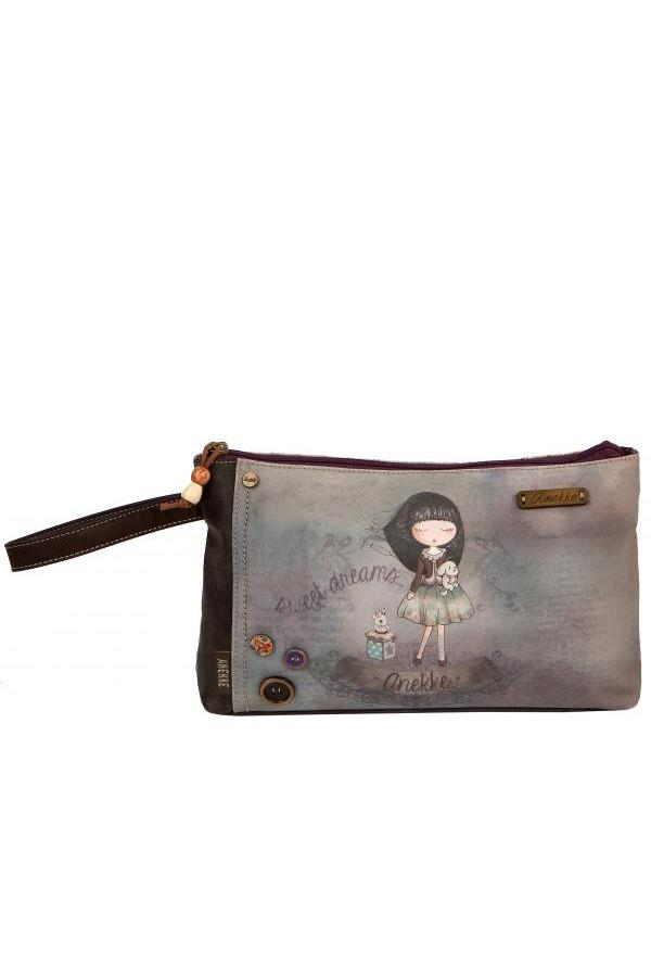 Τσάντα φάκελος χειρός μωβ Anekke - Sweet dreams 21737.8