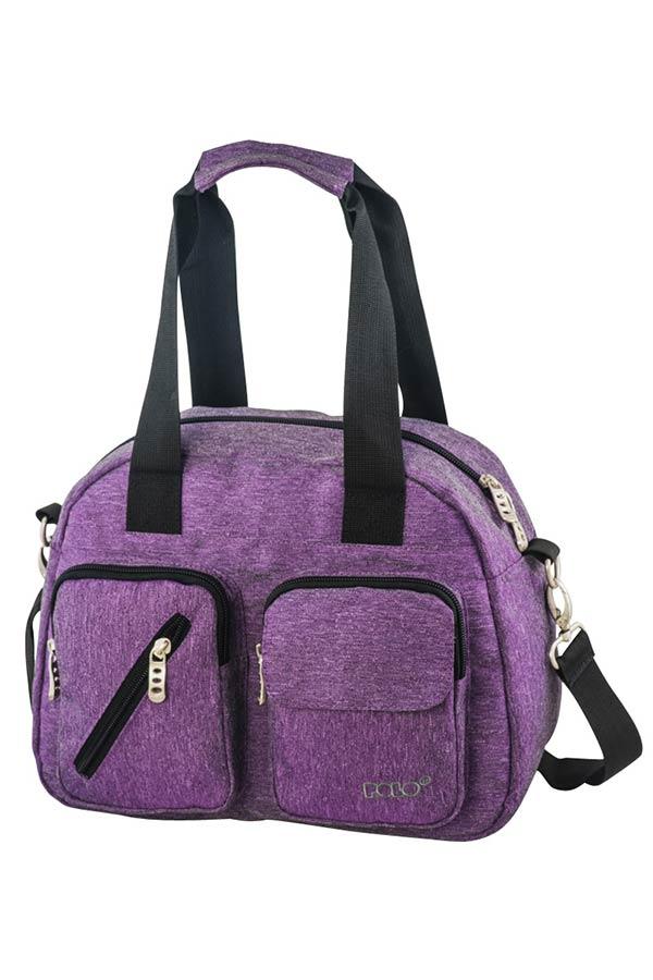 Τσάντα ώμου POLO LADY BAG μωβ 90712813