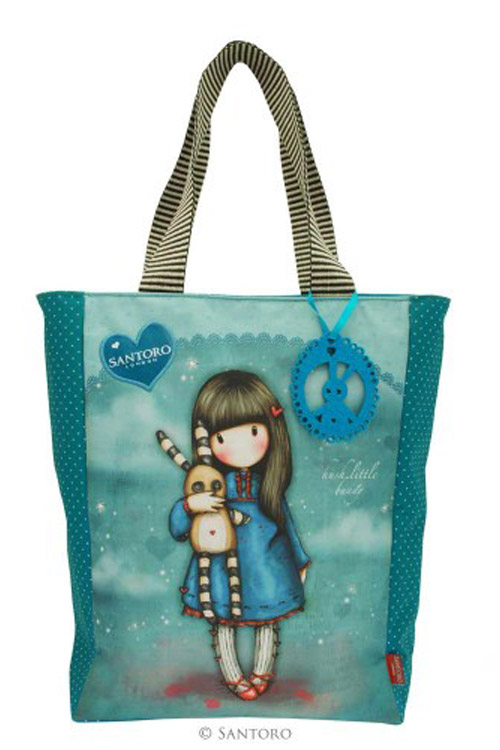 Τσάντα Santoro gorjuss shopper bag καμβάς - Hush little bunny 387GJ03