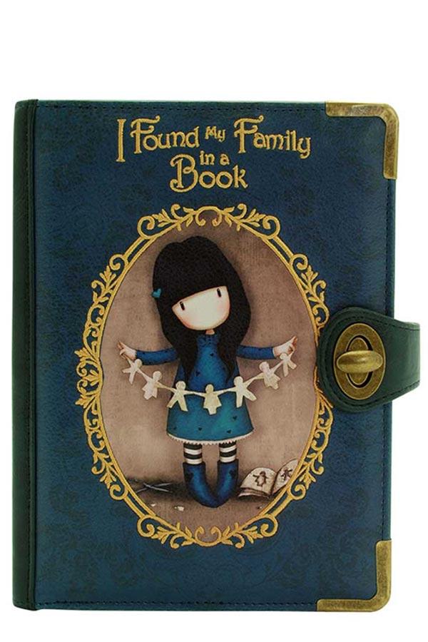 Τσάντα χειρός clutch Santoro gorjuss I found my family in a book 621GJ01