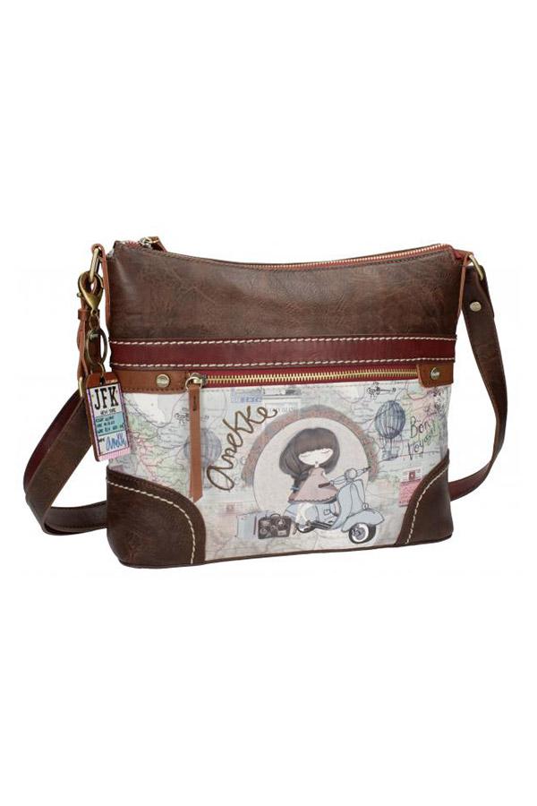 Τσάντα ώμου μπεζ Anekke Traveller 23711