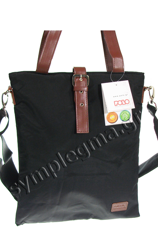Τσάντα ώμου POLO MIRTA 7Lt μαύρη 90711302