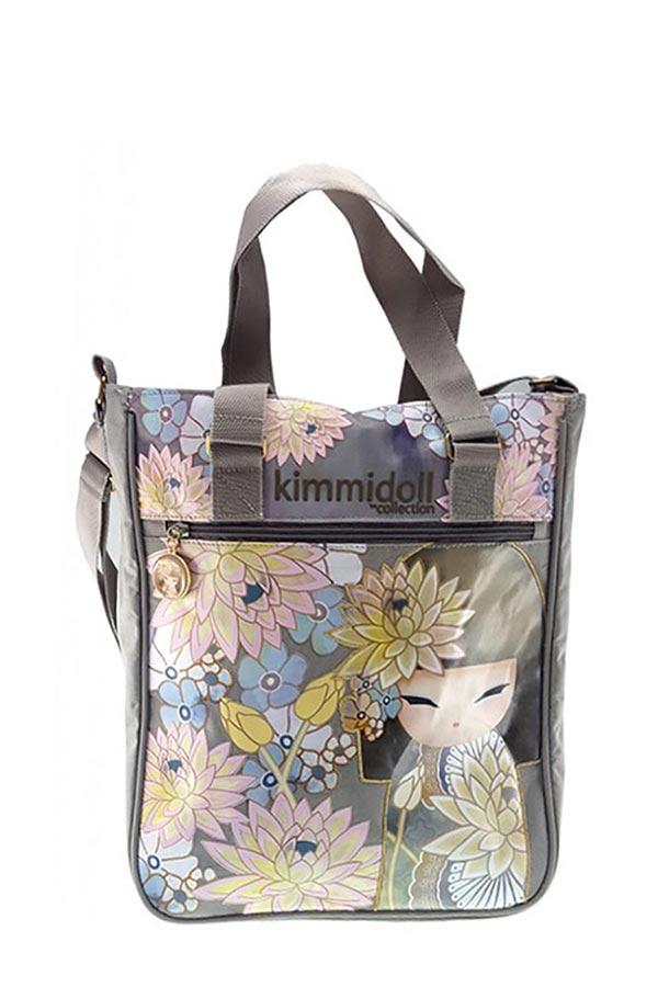 Τσάντα ώμου Shopping bag Kimmidoll γκρι 63261