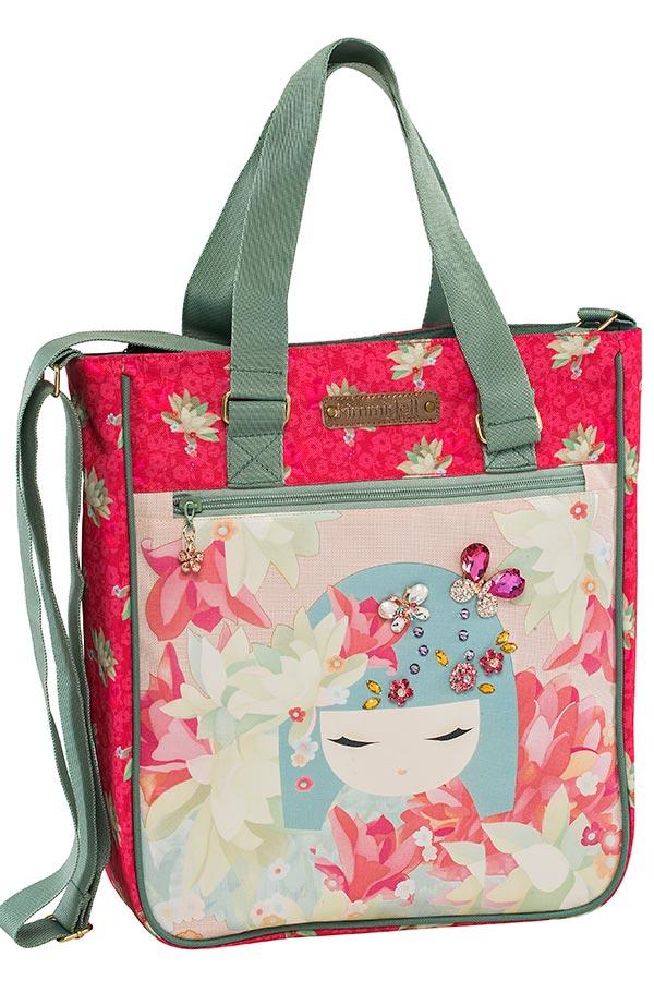 Τσάντα ώμου Shopping bag Kimmidoll ροζ Graffiti 173262