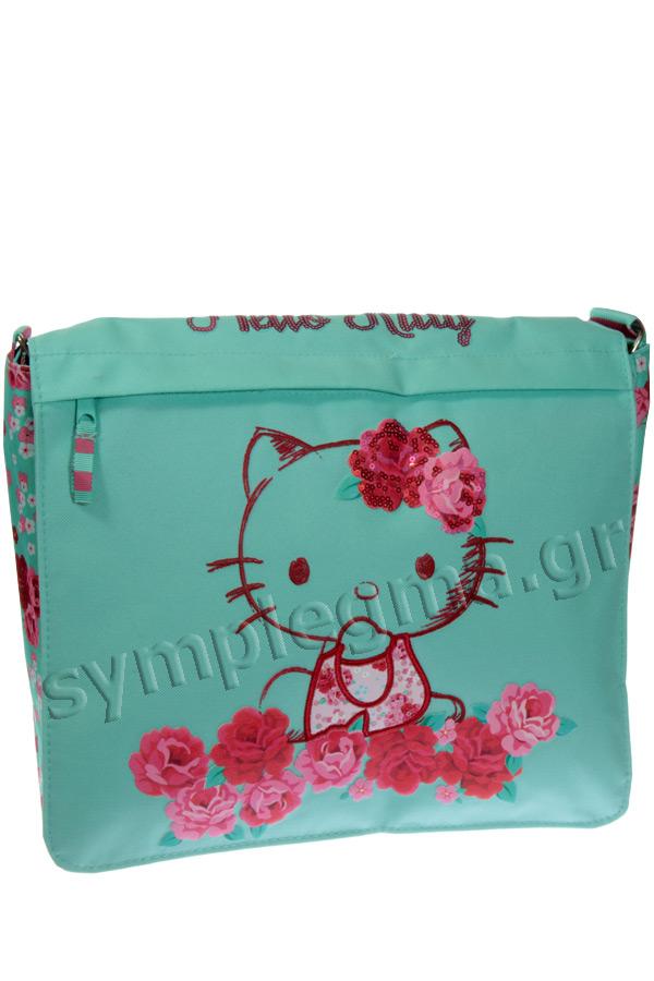 Τσάντα ταχυδρόμου Passion roses Hello Kitty βεραμάν 15924
