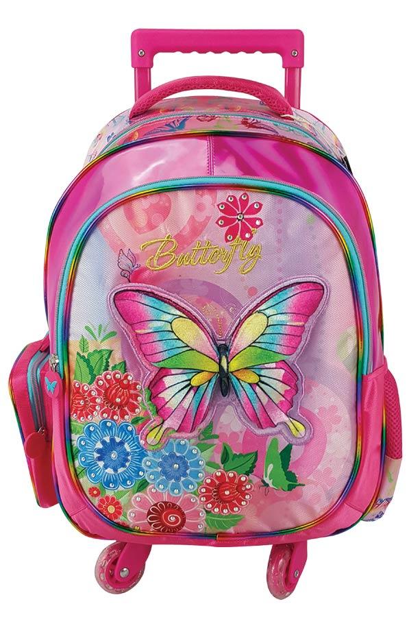 Σχολική τσάντα τρόλεϊ must 4Weels Butterfly 0579230