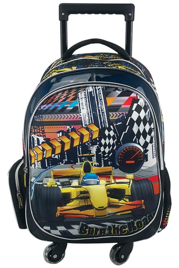 Σχολική τσάντα τρόλεϊ must 4Weels Burn the road 0579226