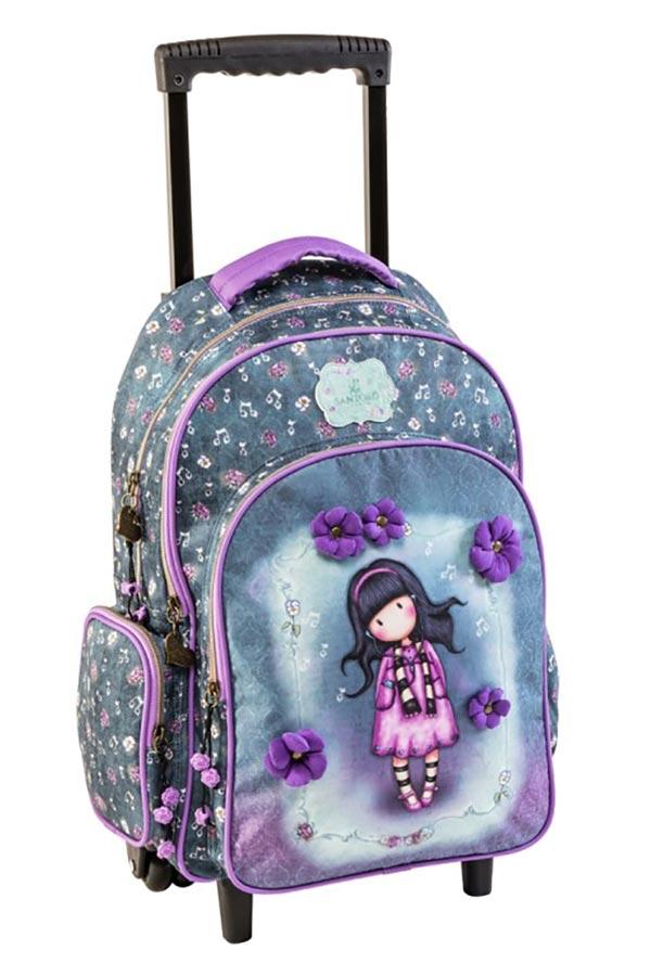 b861020f96 Σχολική τσάντα τρόλεϊ Santoro gorjuss Little song 67252