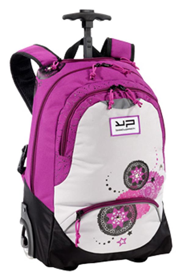 c437d5a4aab Σχολική τσάντα τρόλεϊ bodypack φούξια φωτεινά ροδάκια