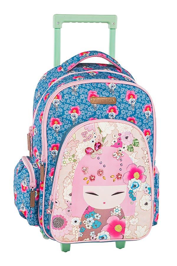 Σχολική τσάντα τρόλεϊ Kimmidoll μπλε Graffiti 173251